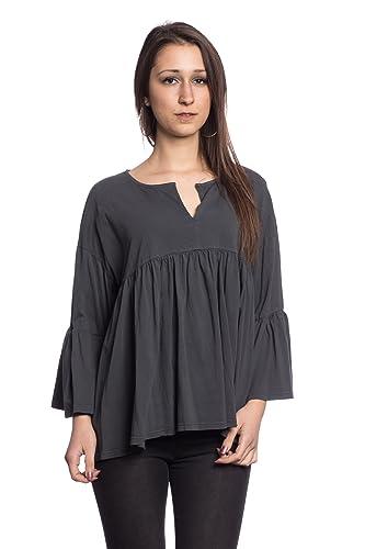 Abbino IG006 Langarm Shirts Tops Para Mujeres - Hecho EN Italia - Colores Variados - Entretiempo Pri...