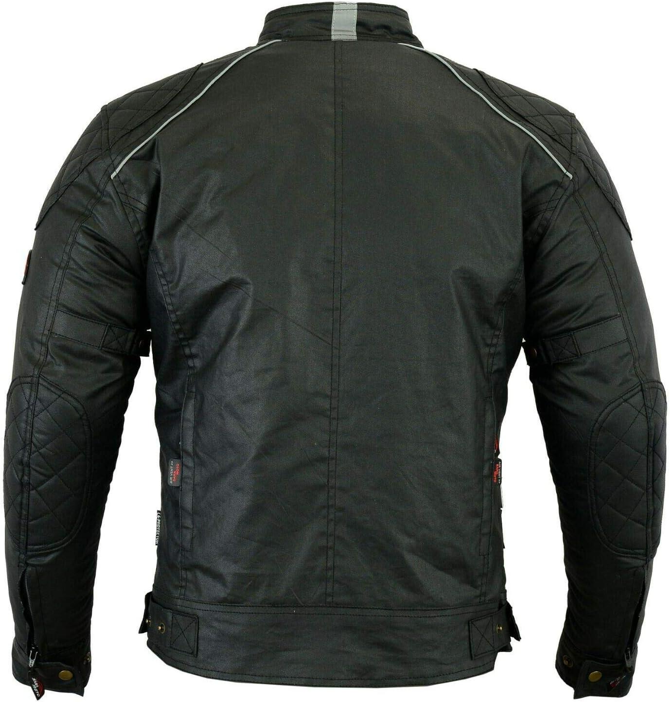 Chaqueta de moto para hombre textil blindado - Diseño exclusivo moto multifunción características color negro: Amazon.es: Coche y moto