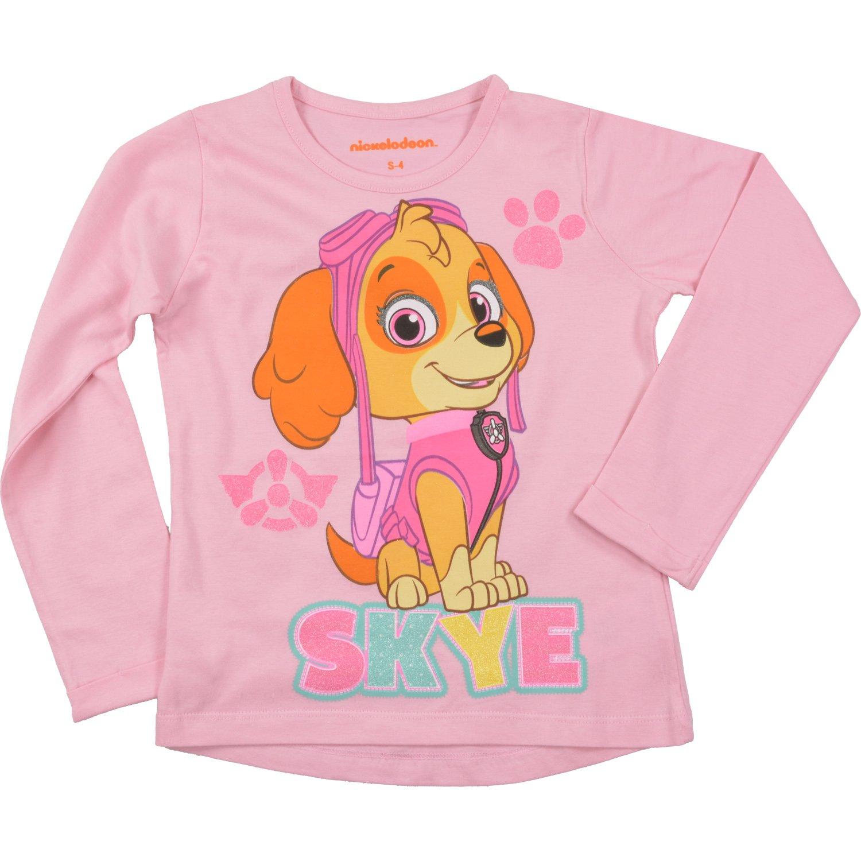 rosa Paw Patrol Langarm Shirt Skye