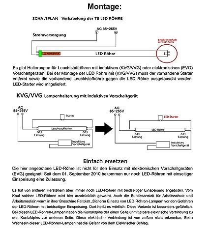 BAODE 2×T8 60/90/120/150CM LED Leuchtstoffröhre Transparent Tube G13 ...