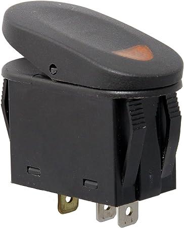 daystar rocker switch wiring diagram amazon com rugged ridge 17235 01 amber 2 position rocker switch  17235 01 amber 2 position rocker switch