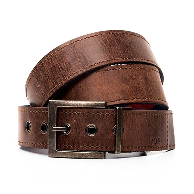 VELEZ Hombres Cinturones de Cuero Genuino para Hombres  1c16906820e6