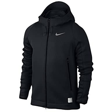 premium selection 7d2ad 4abbc Nike Hyper Mesh Elite Full Zip Hoodie  quot Triple Black quot  ...