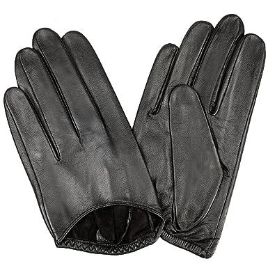 c9f8d93691fed4 WARMEN Handschuhe Sexy klassische für Damen Leder ohne Rücken Gr. 6.5,  schwarz