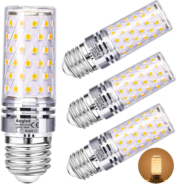 Aogled Ampoules Led E27 12W 1200lm - Économique et éclairage puissant
