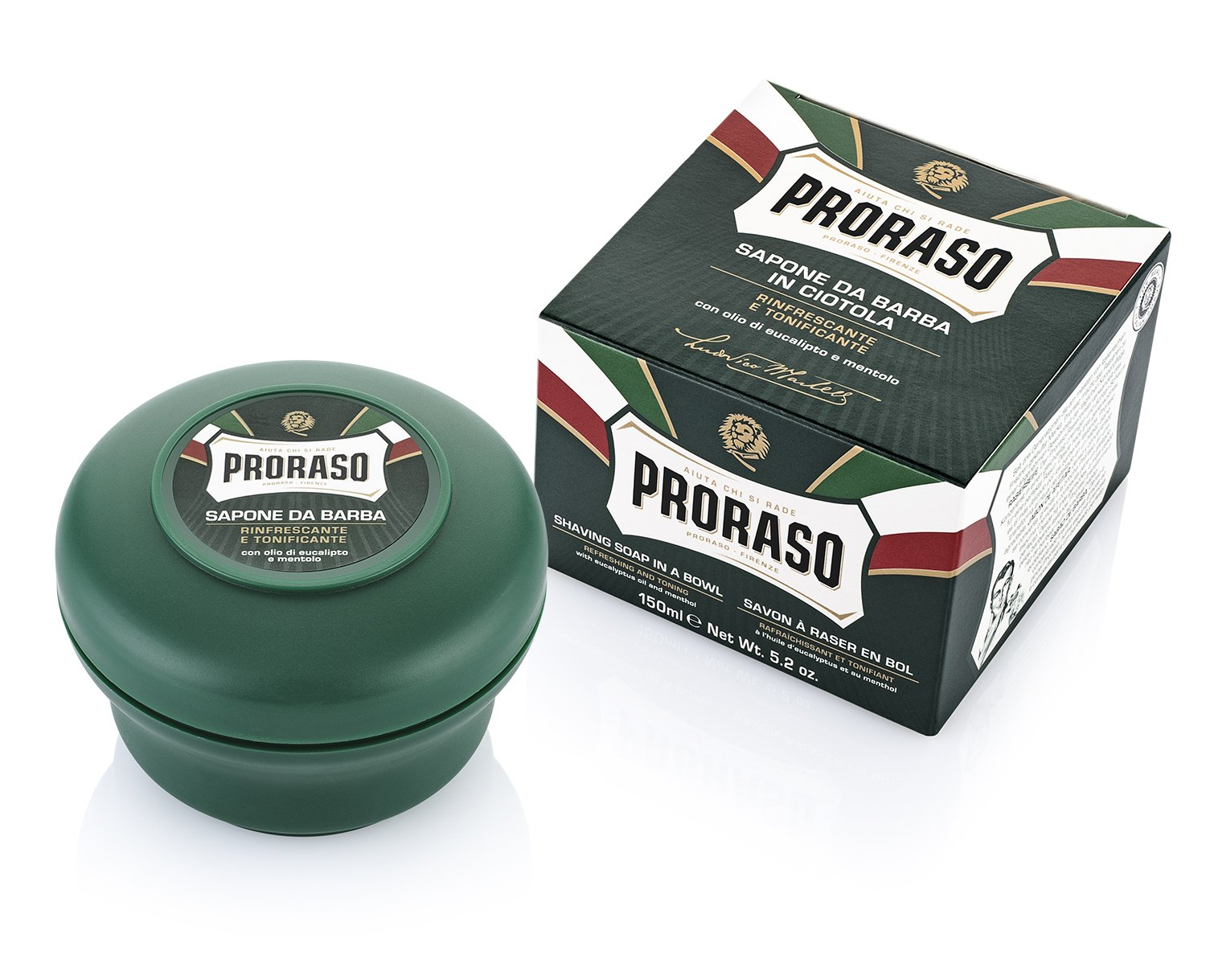 Proraso Shaving Soap in a Bowl, Refreshing and Toning, 5.2 oz