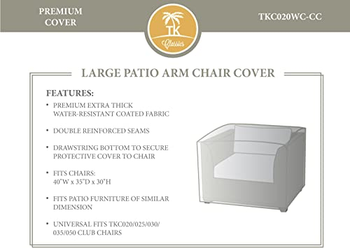 TKC Large Patio Club Chair Cover in Beige