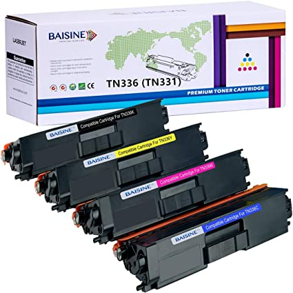 4 PK Compatible Brother TN-336 TN336 Toner HL-L8350CDW MFC-L8850CDW MFC-L8600CDW