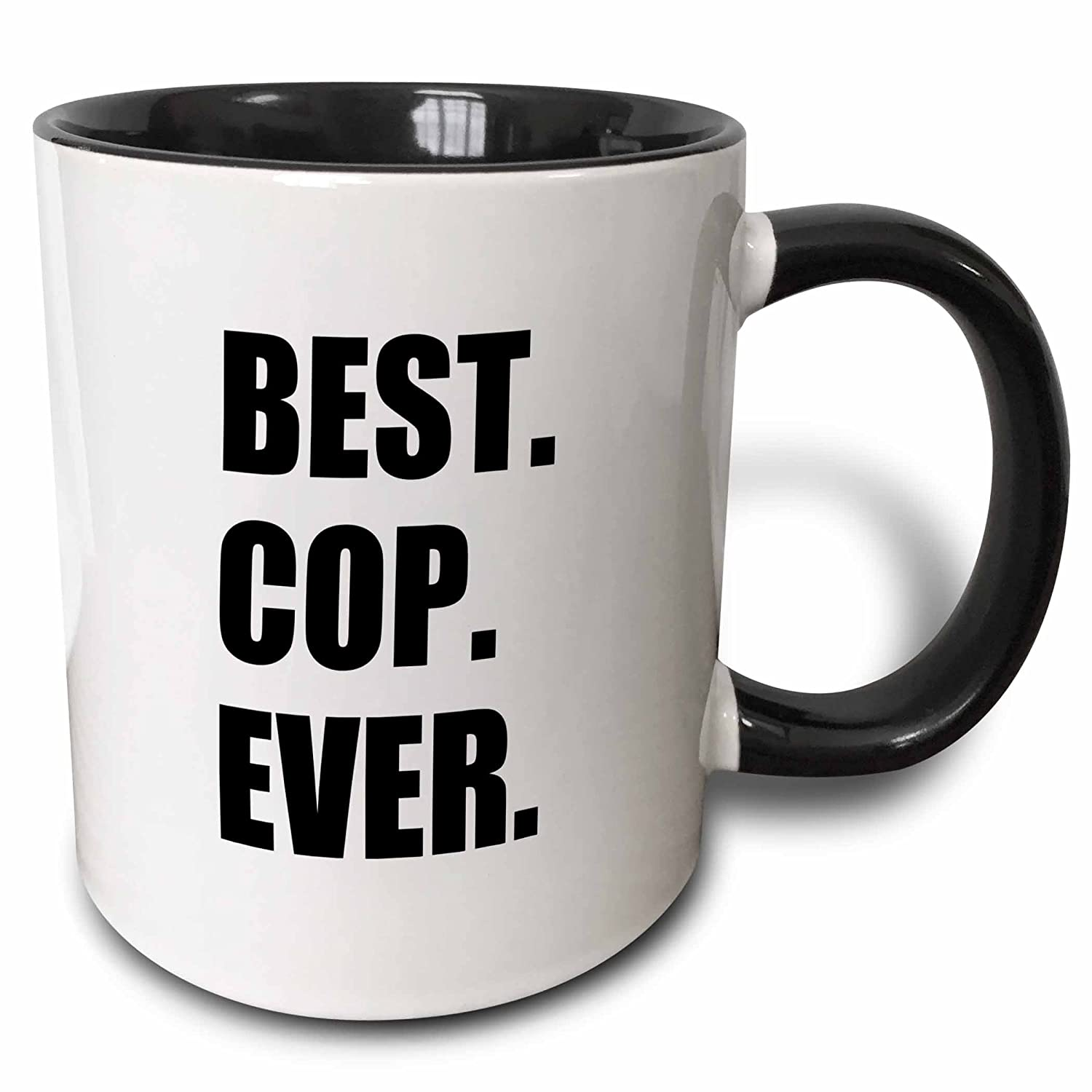 Amazon.com: 3dRose mug_179770_4 Best Cop Ever - fun text gifts for ...