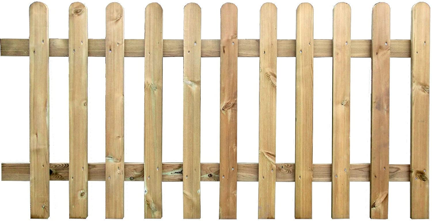 Ruby Pressure Treated Wooden Picket Fence Panel Sections 6ft Long X 4ft Wide 10 Amazon Co Uk Garden Outdoors