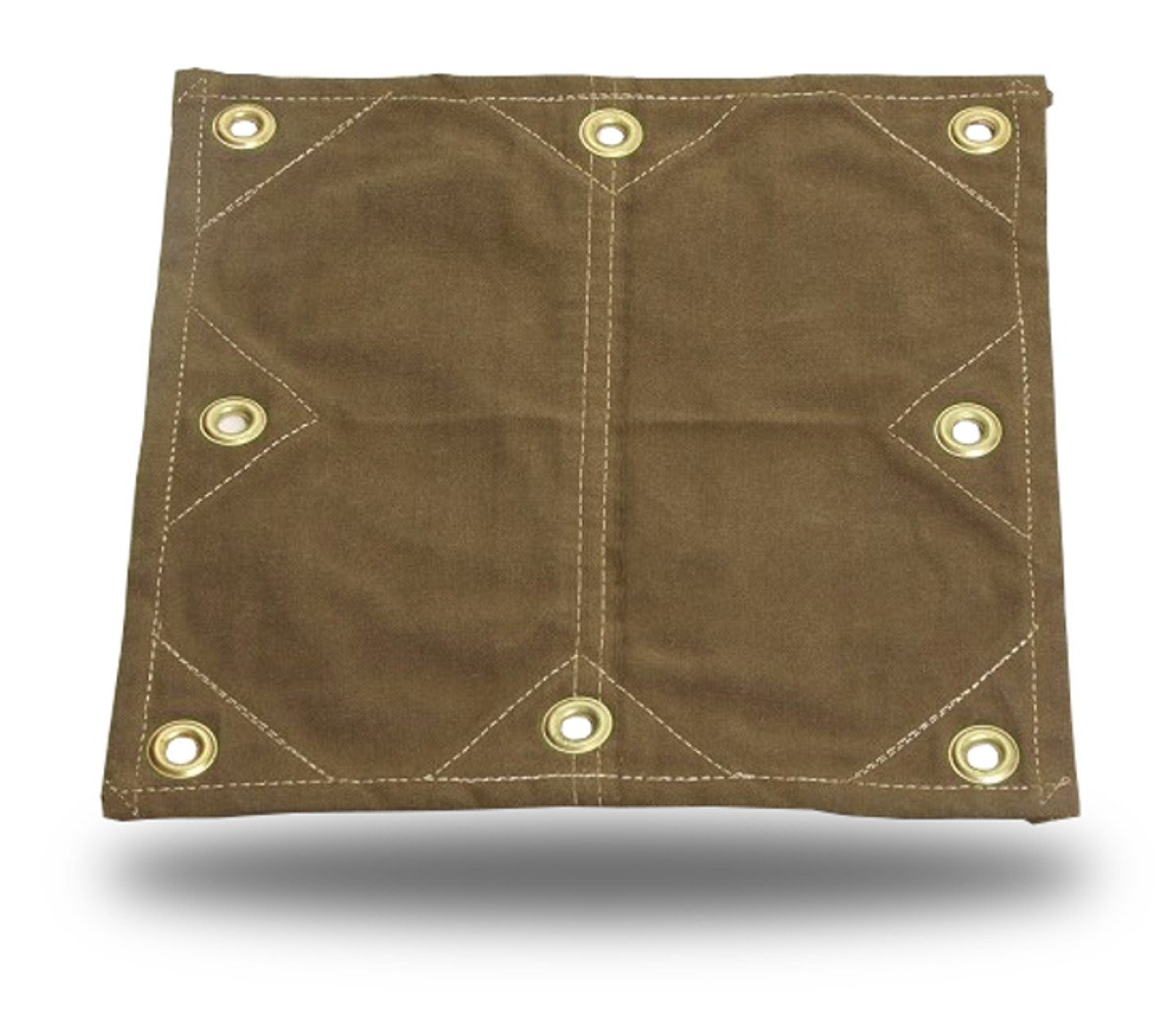 8x10 18oz Heavy Duty Canvas Tarp with 2 Grommets 8x10 Reinforced Patches!