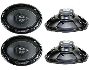 "2 PAIRS New Kenwood KFC-6965S 6x9"" 800 Watt 3-Way Car Audio Coaxial Speakers Stereo"