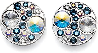 Oliver Weber Orecchino Great rodio Blue Crystals From Swarovski
