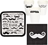 Stache Bash Mustache Party Suplies Package Including Napkins Plates and Paper Cups for 16  sc 1 st  Amazon.com & Amazon.com: Fun Express Mustache Stache Bash Party Paper Dinner ...