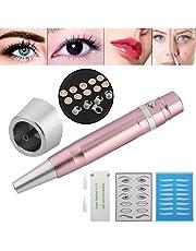 Tatuaje de cejas Multi-Function Eyebrow Lip Eyeliner Maquillaje permanente Tattoo Machine Fuente de alimentación Set(Rosa)