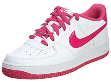 Nike Girl's Air Force 1 Basktetball Shoes (GS) White/Hot Pink ...