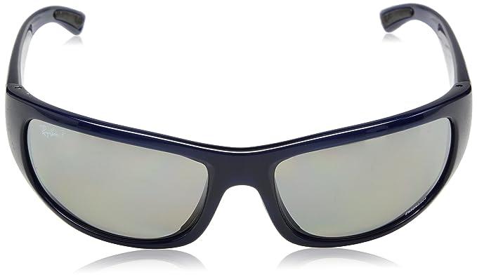 b56d7e9c7c17b1 Rayban 0RB4283CH 629 5J 64, Montures de Lunettes Homme, Bleu  (Blue Greymirgreygradientpolar), 45  Amazon.fr  Vêtements et accessoires