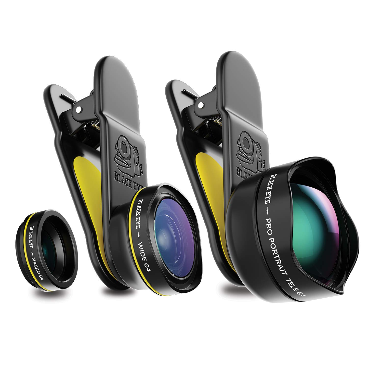 Phone Lenses by Black Eye    Travel Kit G4 Lens Compatible with iPhone, iPad, Samsung Galaxy, and All Camera Phone Models by BLACK EYE