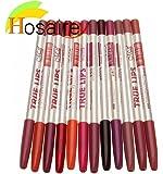 Hosaire 12 PCS/Lot Crayon à lèvres Crayon outils étanche Lip Liner maquillage