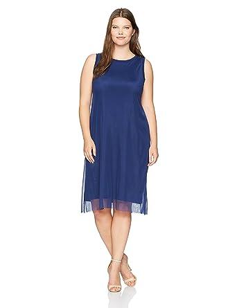 2fe9c93c8f8 Rebel Wilson X Angels Women s Plus Size Mesh Overlay Dress at Amazon  Women s Clothing store