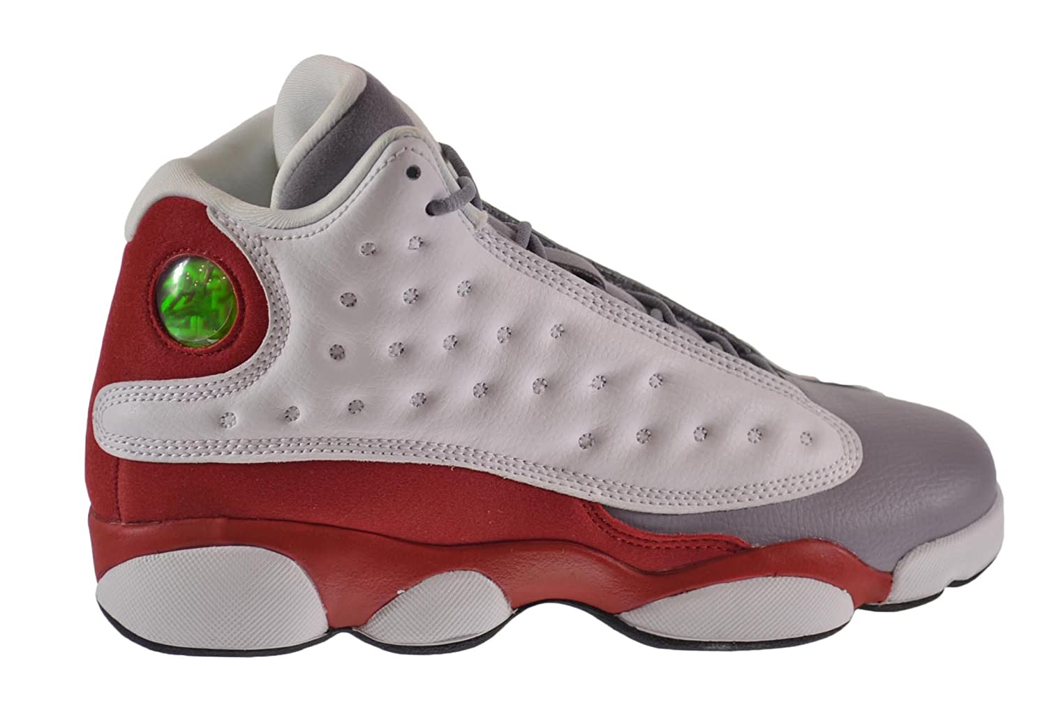 quality design 37938 95bac Amazon.com  Jordan Air 13 Retro Grey Toe BG Big Kids Shoes White Black-True  Red-Cement Grey 414574-126  Shoes