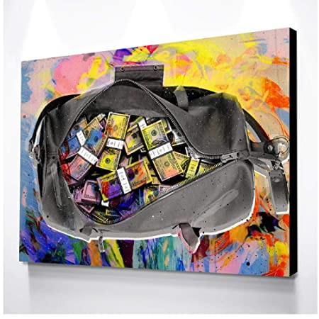 xwwnzdq Arte de la Pared Moderna Imagen Dólares de Colores ...