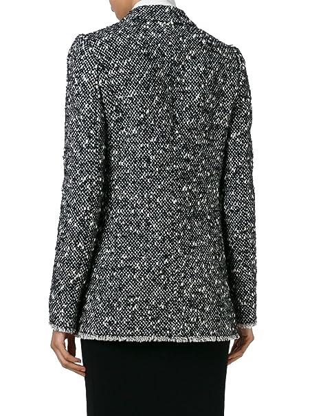 Dolce & Gabbana - Chaqueta de Traje - para Mujer Blanco/Negro Talla de la Marca 46: Amazon.es: Ropa y accesorios