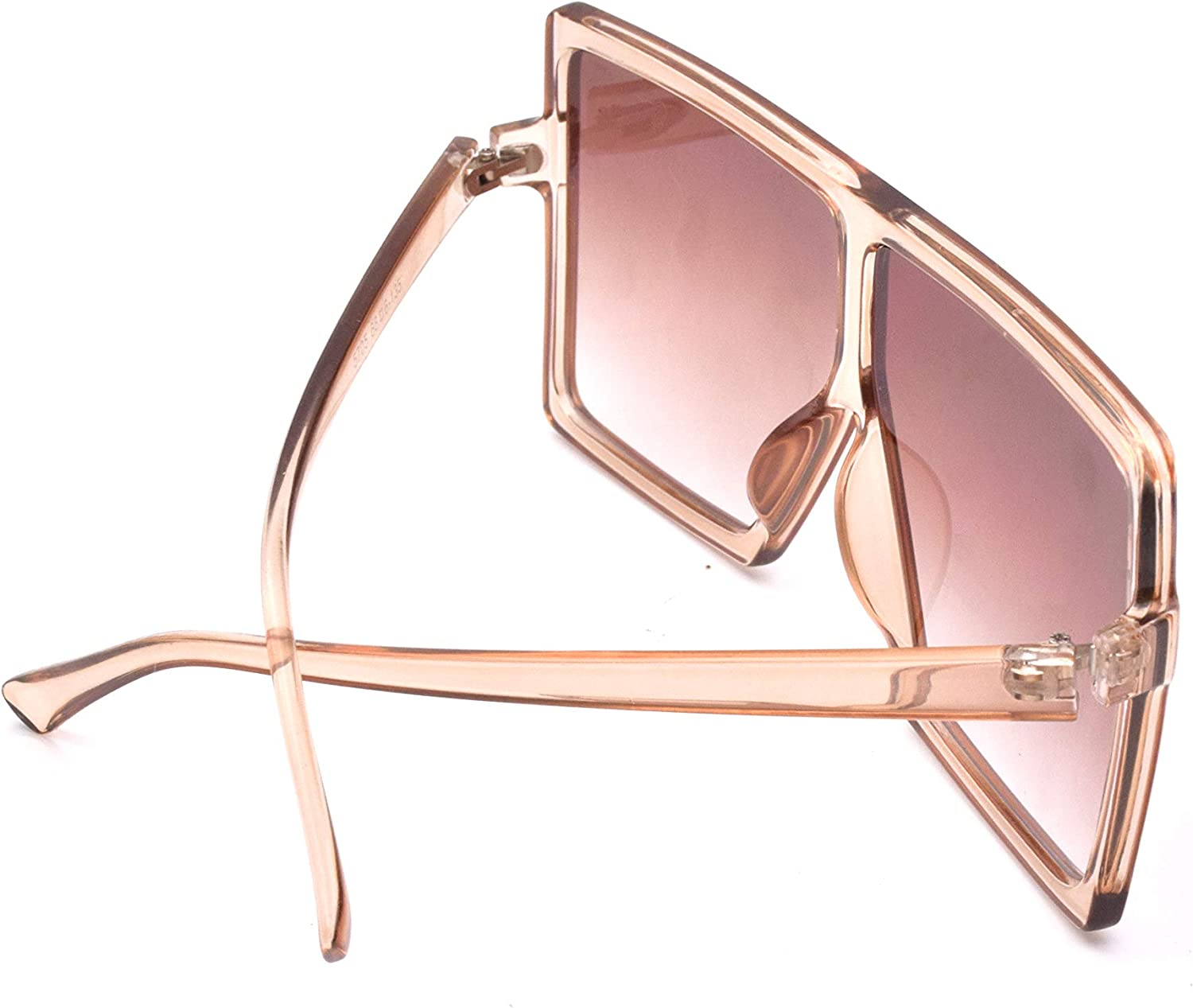 JUSLINK Oversized Square Sunglasses for Women Trendy Flat Top Fashion Shades