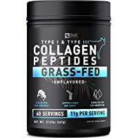 Pure Collagen Peptides Powder (11g | 60 Servings) Grass Fed Pasture-Raised Bovine...