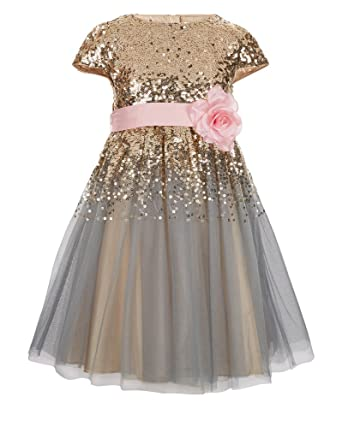 fc8fc9adc9d princhar Sequin Tulle Flower Girl Dress Little Girl Holiday Dress US  2TChampagne
