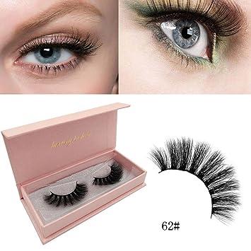 e47b76a2b0f Amazon.com : 1 Pair of False Eyelashes, Elaco Real 3D Soft Long Natural Eye  Lashes Makeup Thick False Eyelash Extension (A) : Beauty