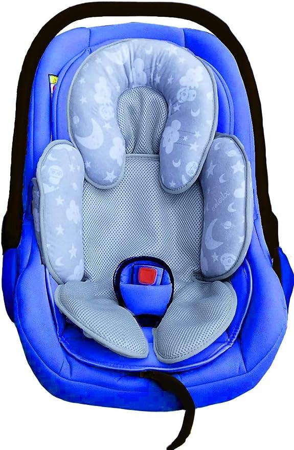 Baumwolle Baby Kind f/ür Auto Kindersitz Babyschale Einsatz Star Star BLAU Sitzverkleinerer