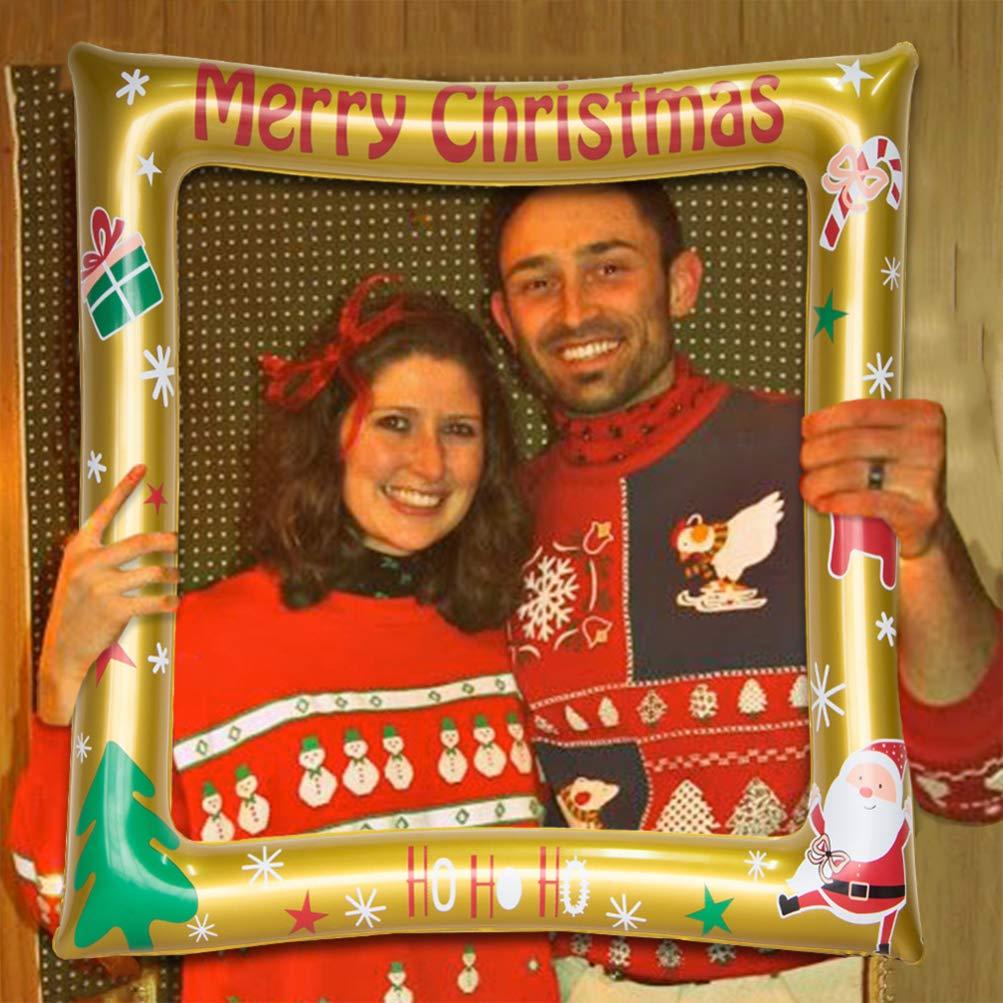 NUOBESTY Marco de fotos inflable de Navidad, marco para ...