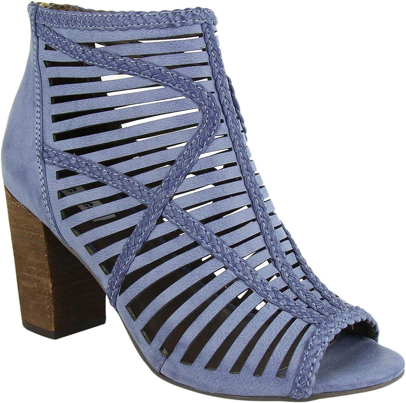 High Heel Open Toe Caged Sandal