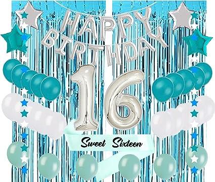Amazon.com: Sweet 16 - Globos de fiesta para 16 cumpleaños ...