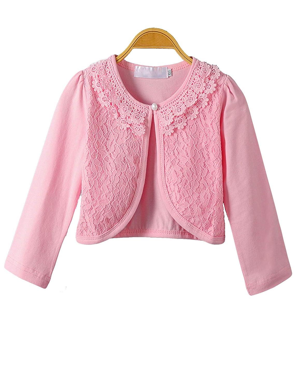 ISOFT Little Girls' Long Sleeve Lace Bolero Cardigan Shrug