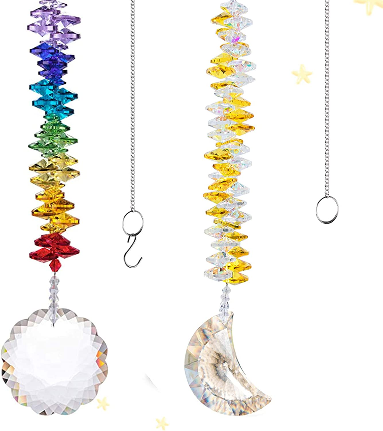 H&D HYALINE & DORA Suncatcher Crystal Window Ornaments,Handmade Hang Decor for Garden,Home,Party,Christmas Tree,Gift Boxed