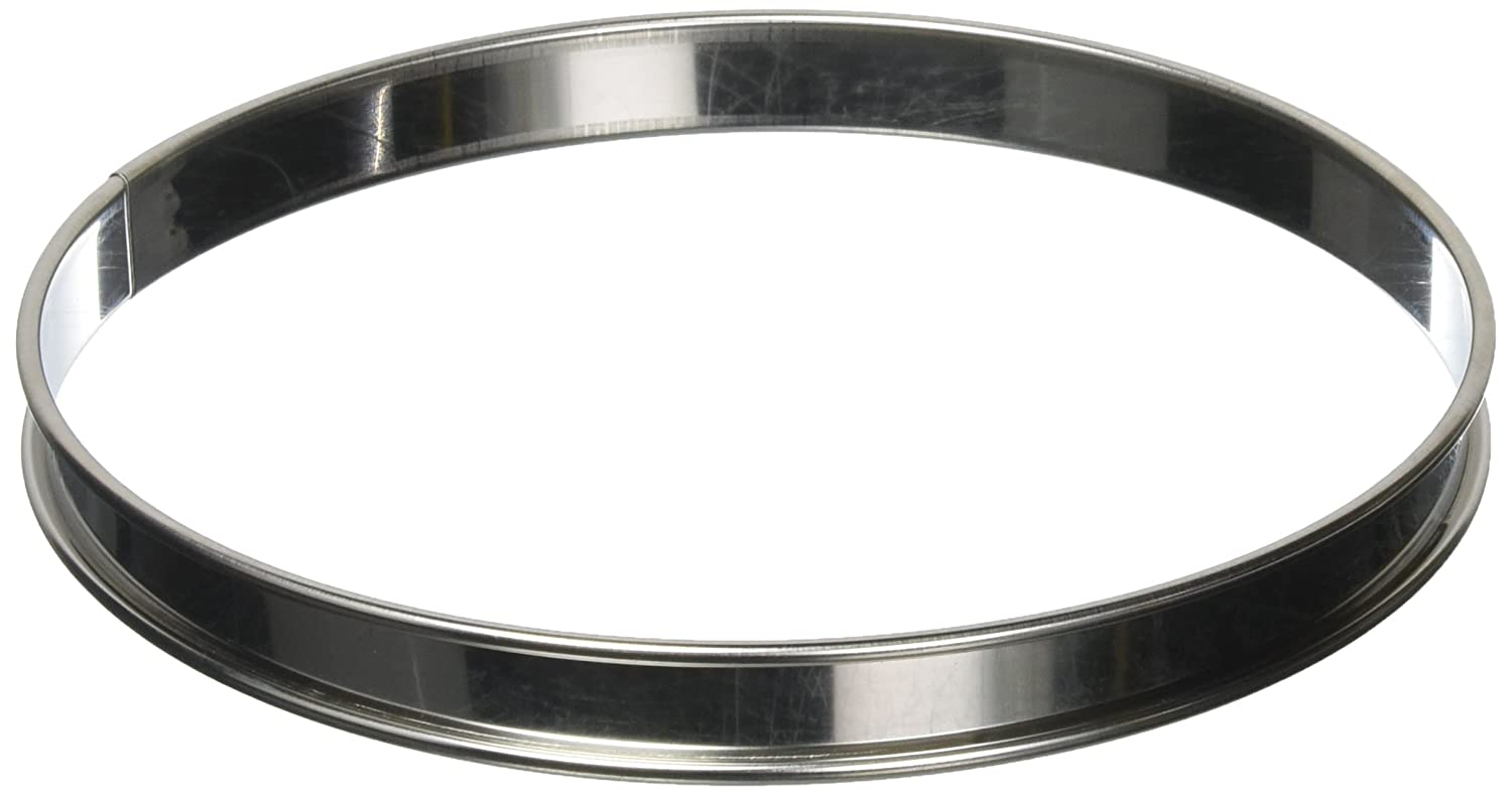 Matfer Bourgeat 371613 Plain Tart Ring, Silver