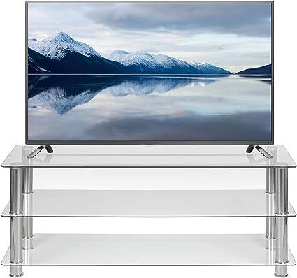 Soporte de TV de Cristal Transparente de 125 cm de Ancho para 32 ...