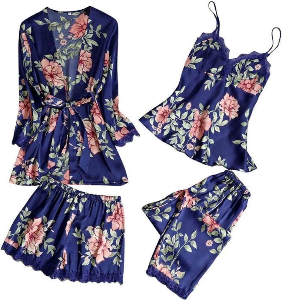 Ladies Pajamas 3 Pieces Satin Pajamas Pajamas Silk Home Wear