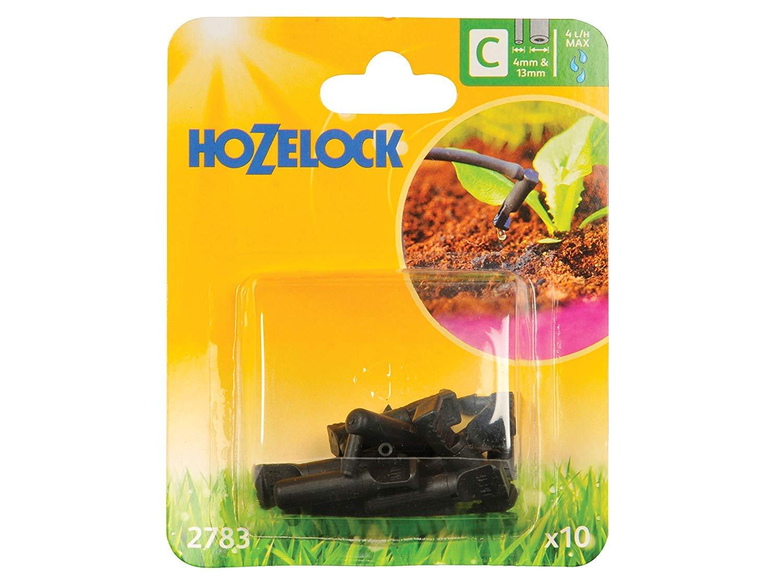 Hozelock 4 mm/13 mm End Line Dripper (Pack of 10) 2783P0000