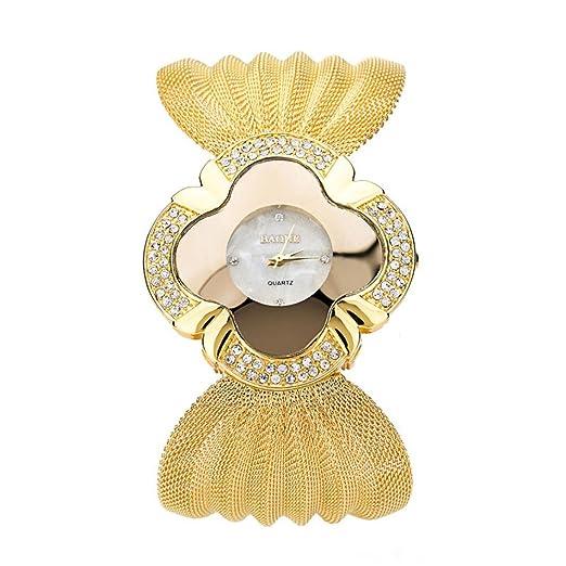 Relojes Pulsera Mujer, K-youth® Reloj Pulsera Espejo Lujo Reloj de cuarzo Relojes