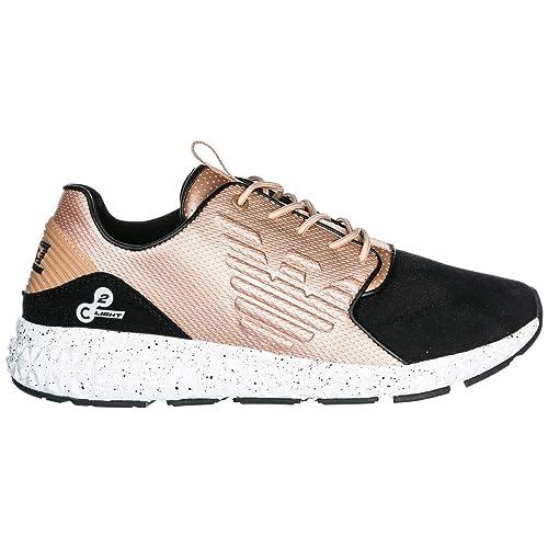 Emporio Armani EA7 Zapatos Zapatillas de Deporte Hombres Negro EU 40 X8X013XK016A797: Amazon.es: Zapatos y complementos