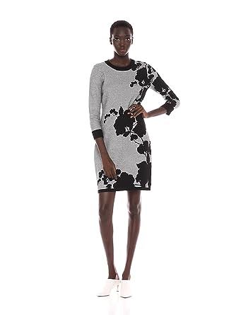 c87b23141d0 Calvin Klein Women s Floral Sweater Dress at Amazon Women s Clothing ...