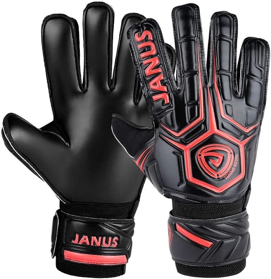 3.6mm Strong Natural Latex Palm Double Rip-Tab Strap Match Training Goalie Gloves Adult /& Youth Soccer Goalkeeper Gloves with Pro Finger Save Designed for Performance