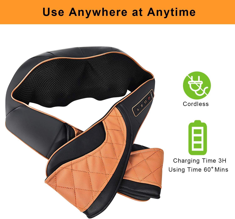 R/ücken Nacken und Schulter elektrisch Massageger/ät mit nat/ürlich verringern das Bauchfett f/ür Zuhause B/üro und Reisen