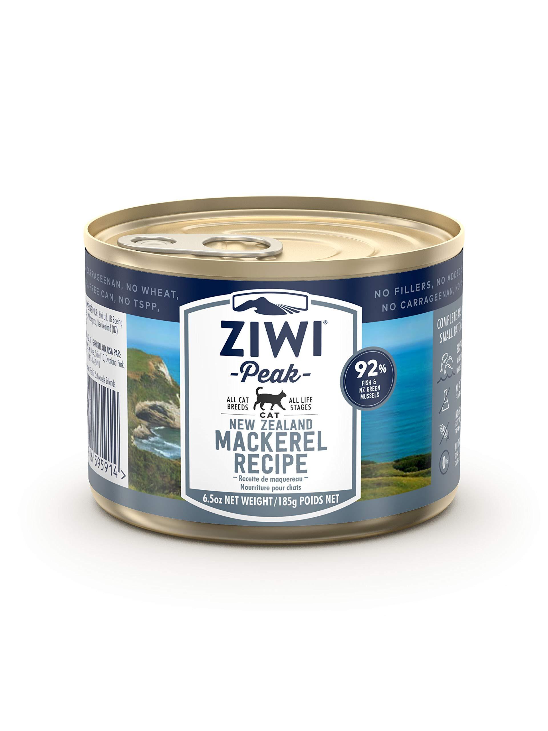 Ziwi Peak Mackerel Recipe Cat Food (Case of 12, 6.5 oz Each) by Ziwi Peak