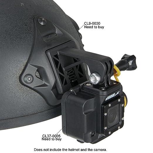 Marrón Base de montaje de cámara NVG casco tácticas Adaptador para GoPro Acción Cámara Negro