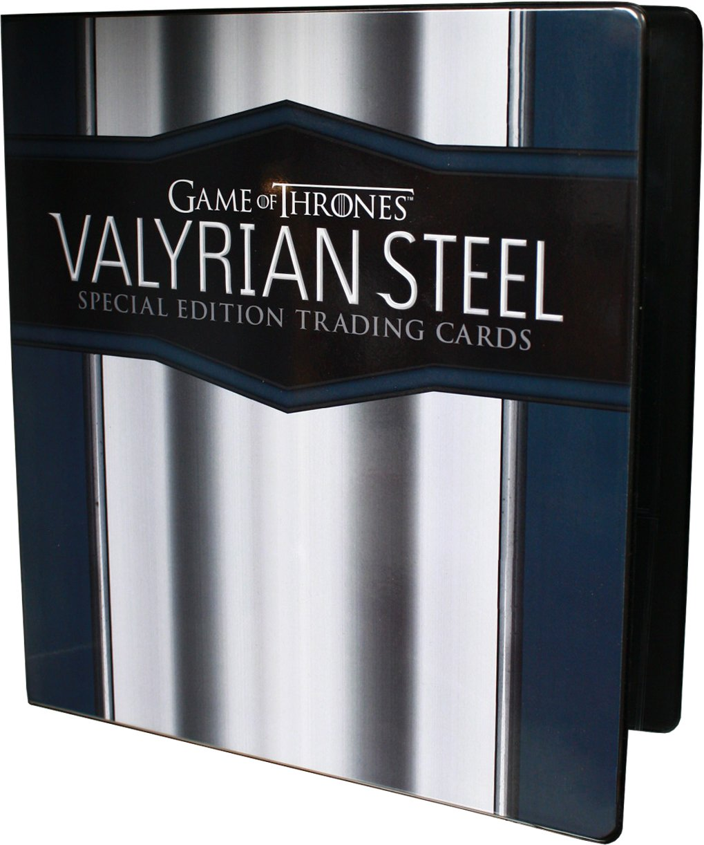 Game of Thrones Valyrian Steel Special Edition Trading Cards Binder Rittenhouse