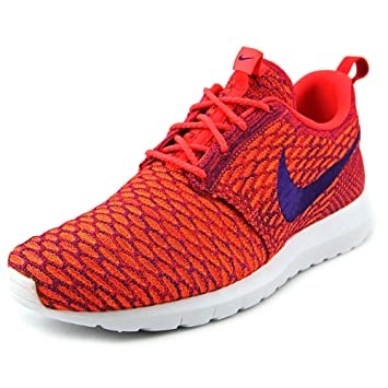 detailed look b8923 a2b98 NIKE ROSHE RUN FLYKNIT - 677243600 - rot orange blau weiß(45.5)